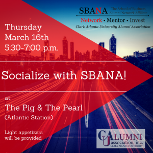 Socialize with SBANA! | Thursday, March 16th | RSVP: SBANA.eventbrite.com