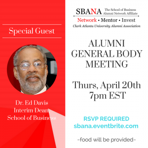 General Body Meeting April 20th - Special Guest Dr. Ed Davis, Interim Dean