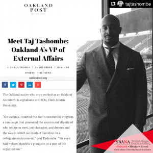 Taj Tashombe (CAU School of Business Alumni)